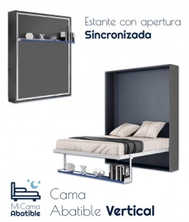 Cama Abatible Vertical con estante sincronizado Ref CAN46000