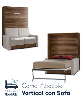 Cama Abatible Vertical con Sofá Ref CAN15000
