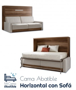 Cama Abatible Horizontal con Sofá Ref CAN34000