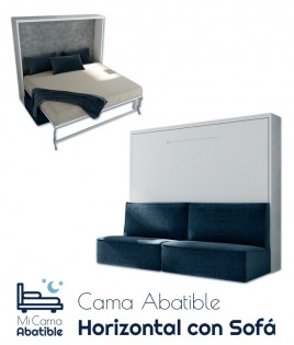 Cama Abatible Horizontal con Sofá Ref CAN45000