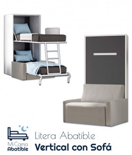 Litera Abatible Vertical con Sofá Ref CAN37000