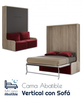 Cama Abatible Vertical con Sofá Ref CAN40000
