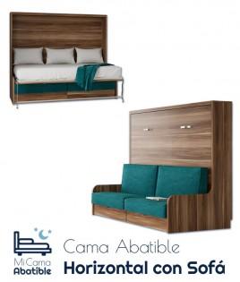 Cama Abatible Horizontal con Sofá Ref CAN41000