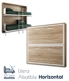 Litera Abatible Horizontal con Altillo opcional Ref CAN30000