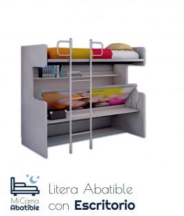 Litera con cama Abatible y escritorio Ref CAN18000