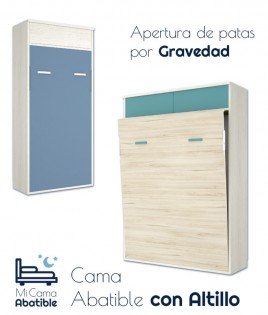 Cama Abatible Vertical con altillo Ref CAY39000