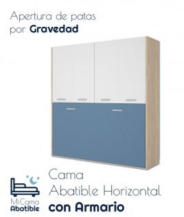 Cama Abatible Horizontal con armario de 4 puertas Ref CAY28000