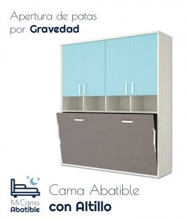 Cama Abatible Horizontal con Altillo Ref CAY37000