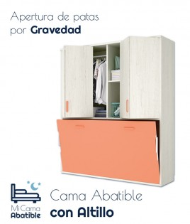 Cama Abatible Horizontal con altillo superior Ref CAY38000