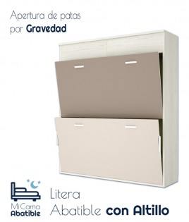 Litera Abatible Horizontal con altillo Ref CAY40000