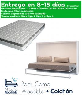 Pack Cama Abatible Horizontal y Colchón Ref CAN23000