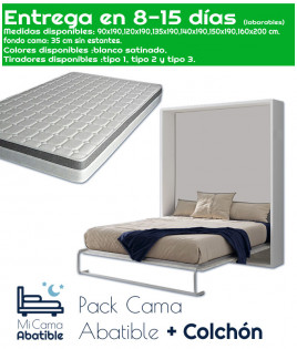 Pack Cama Abatible Vertical y Colchón Ref CAN24000