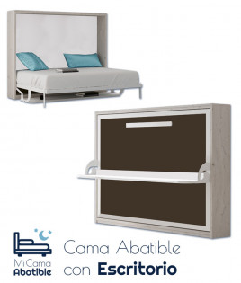 Cama Abatible Horizontal con Escritorio Ref CAN62000