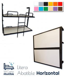 Litera Abatible horizontal con estructura metálica disponible en diferentes colores Ref F10000